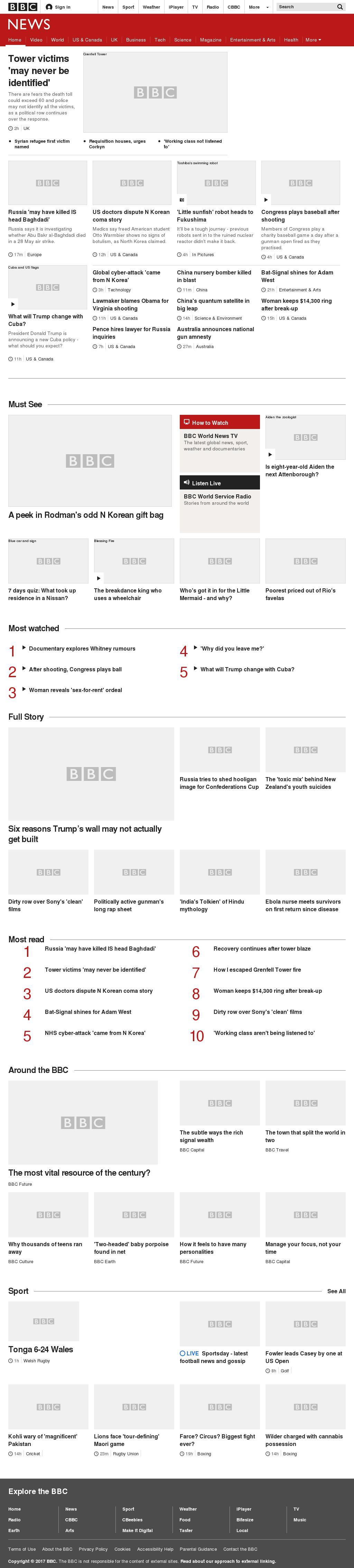 BBC at Friday June 16, 2017, 9 a.m. UTC