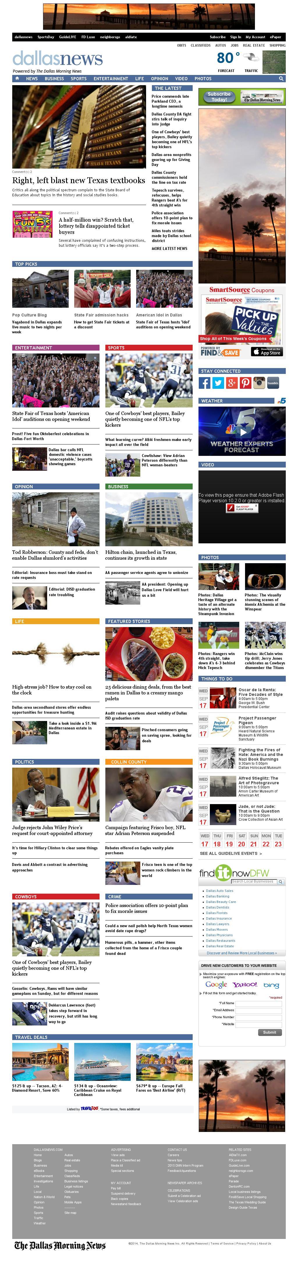 dallasnews.com at Wednesday Sept. 17, 2014, 7:03 a.m. UTC