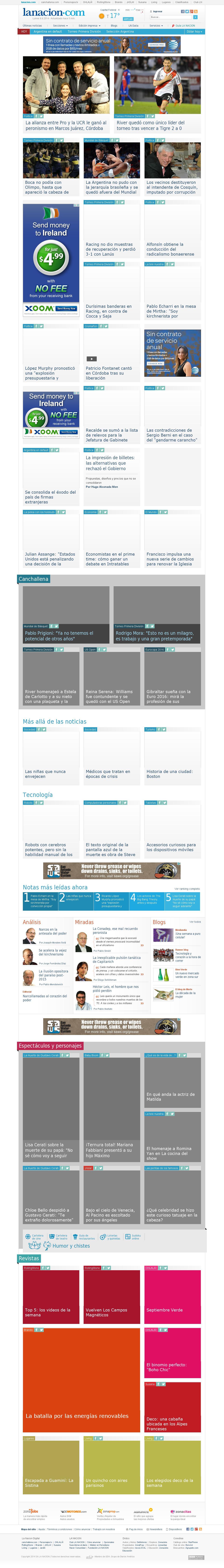 lanacion.com at Monday Sept. 8, 2014, 5:10 a.m. UTC