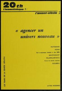 Cover of: Agencer un univers nouveau | textes réunis par Louis Forestier.