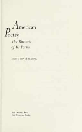 Cover of: American poetry | Mutlu Konuk Blasing