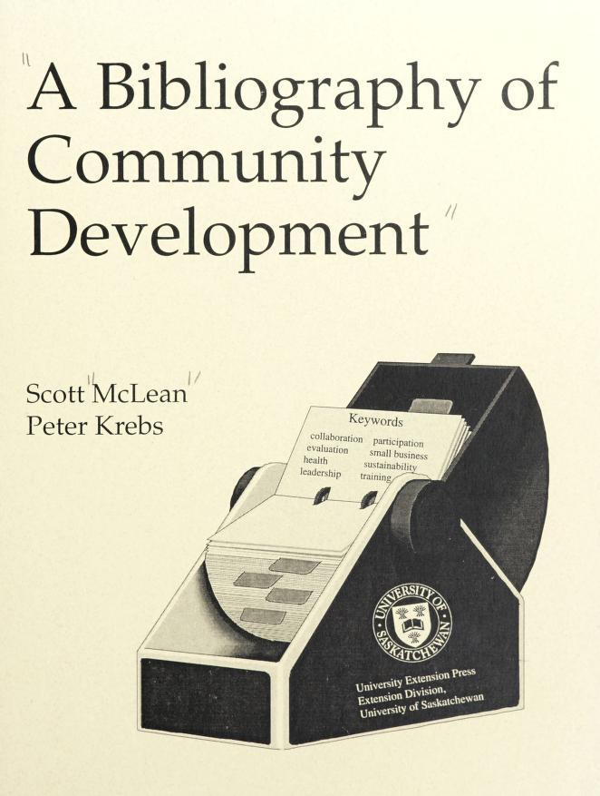 A bibliography of community development by McLean, Scott