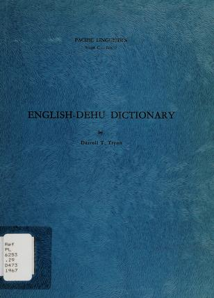 Cover of: English-Dehu dictionary | D. T. Tryon