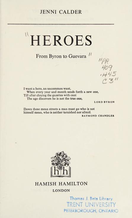 Heroes by Jenni Calder