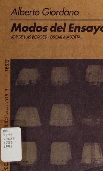 Cover of: Modos del ensayo   Giordano, Alberto.