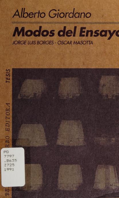 Modos del ensayo by Giordano, Alberto.