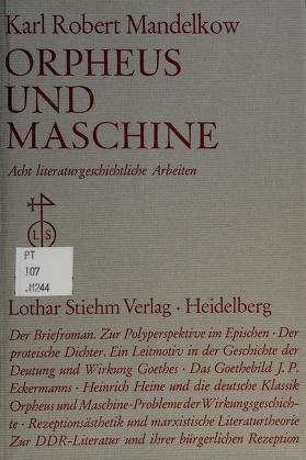 Cover of: Orpheus und Maschine | Karl Robert Mandelkow